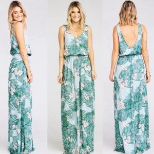 SMYM Kendall Maxi Dress Floral Hanalei Size Large